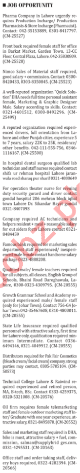 The Nation Newspaper Classified Jobs 2018 In Karachi