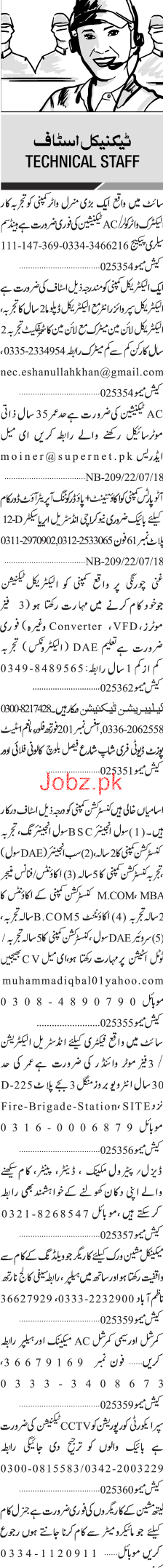 AC Technicians, Electrical Diploma Holders Job Opportunity