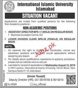 International Islamic University Islamabad IIUI Jobs