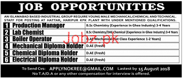 Production Manager Job Opportunity