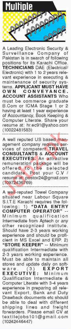Multiple Job 2018 in Karachi