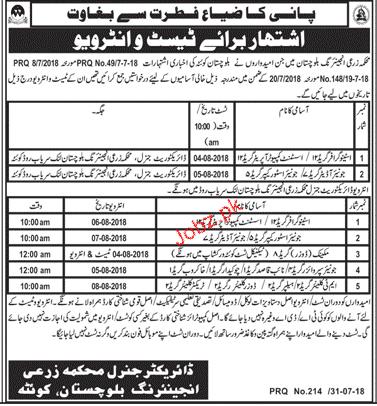 Agriculture Engineering Department Balochistan  Jobs