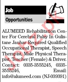 Physical Therapist, Speech Therapist, Teacher & Driver Jobs