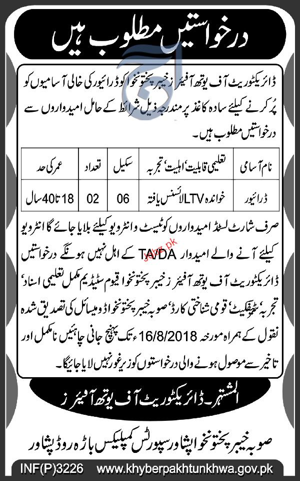 Directorate of  Youth Affairs KPK Jobs