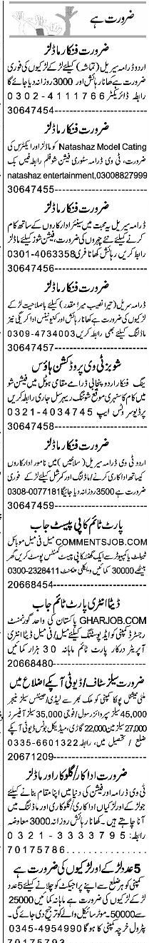 Data Entry Operators, Sales Manager, Salesmen Wanted