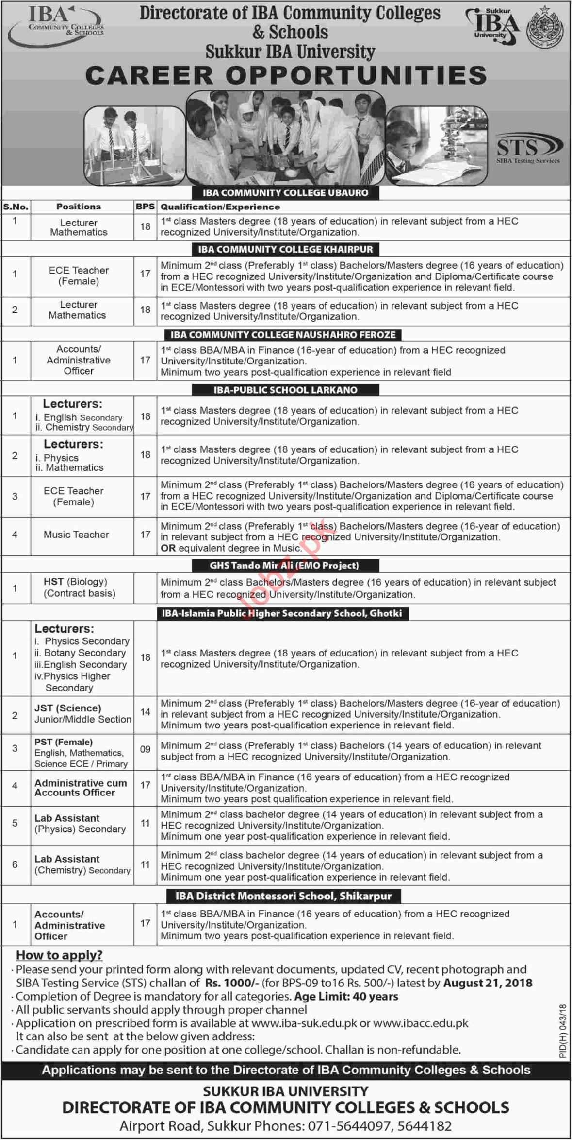 Jobs at Sukkur IBA University