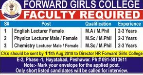 Forward Girls College Teaching Jobs