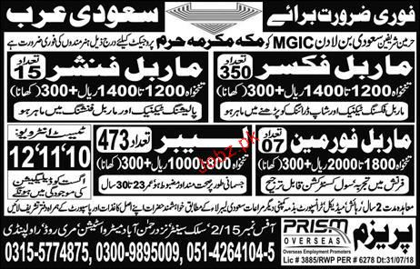 Marble Fixers, Marble Finishers Job Opportunity