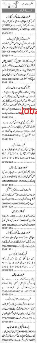 Security Guards, Sales Manager, Sales Officers Wanted