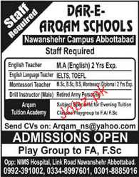 Dar e Arqam Schools Jobs Teachers Jobs