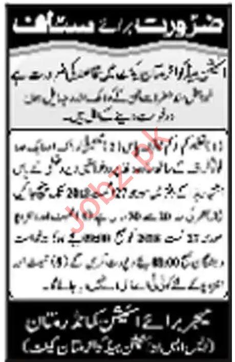 Station Headquarter Multan Jobs 2018 for Naib Qasid