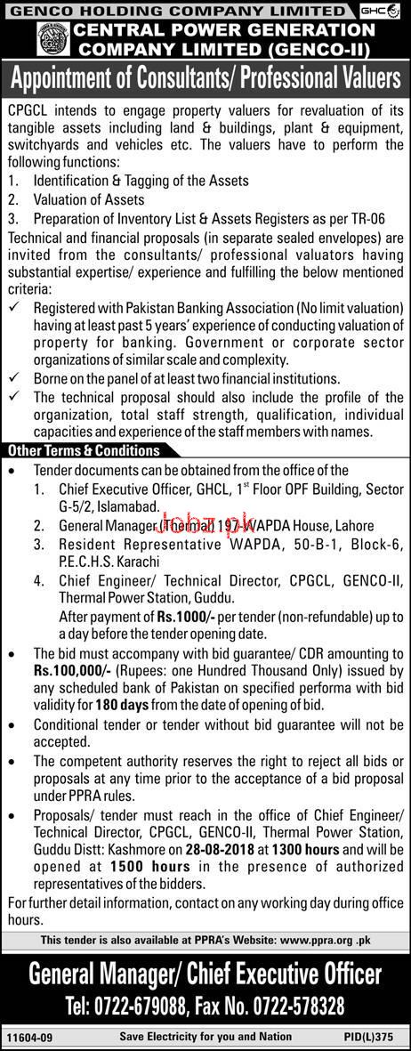GENCO Holding Co Limited Central Power Generation Co Jobs