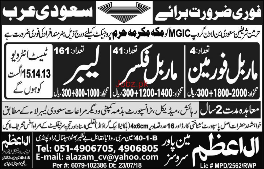 Marble Foreman, Marble Fixers Job Opportunity