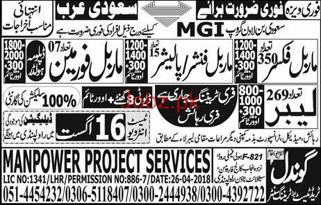 Marble Fixers, Marble Finishers, Labors Job Opportunity