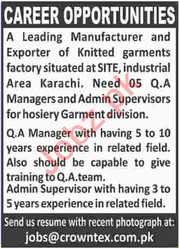 Managers for Crowntex Textile