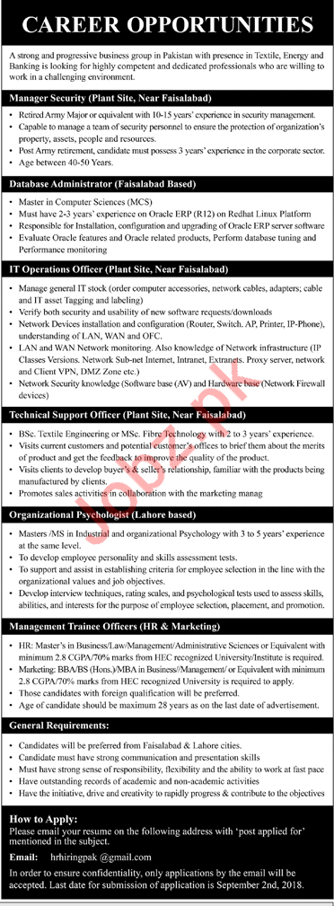 Manager, Database Administrator, Technical & IT Jobs 2018 2019 Job