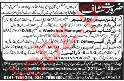 Kohistan Logistic Company KLC Jobs