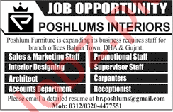 Marketing Staff for Poshlums Furniture