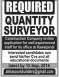 Quantity Surveyors Job in Construction Company