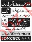 Cook & House Boy Jobs 2018 in Islamabad 2019 Job