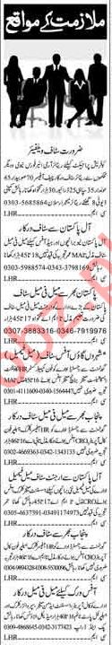 Miscellaneous Jobs 2018 For Islamabad Pakistan