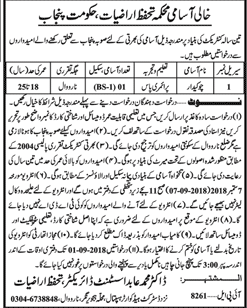 Land Protection Department Government of the Punjab Jobs