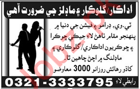 Actors, Singers & Models Jobs 2018 in Hyderabad