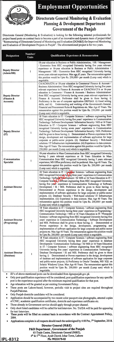 General Monitoring and Evaluation Planning and Deve Jobs