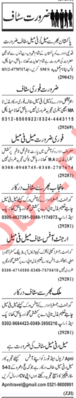 Multiple Jobs 2018 For Lahore