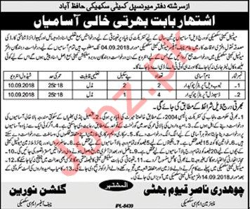 Municipal Committee Hafizabad Jobs 2018