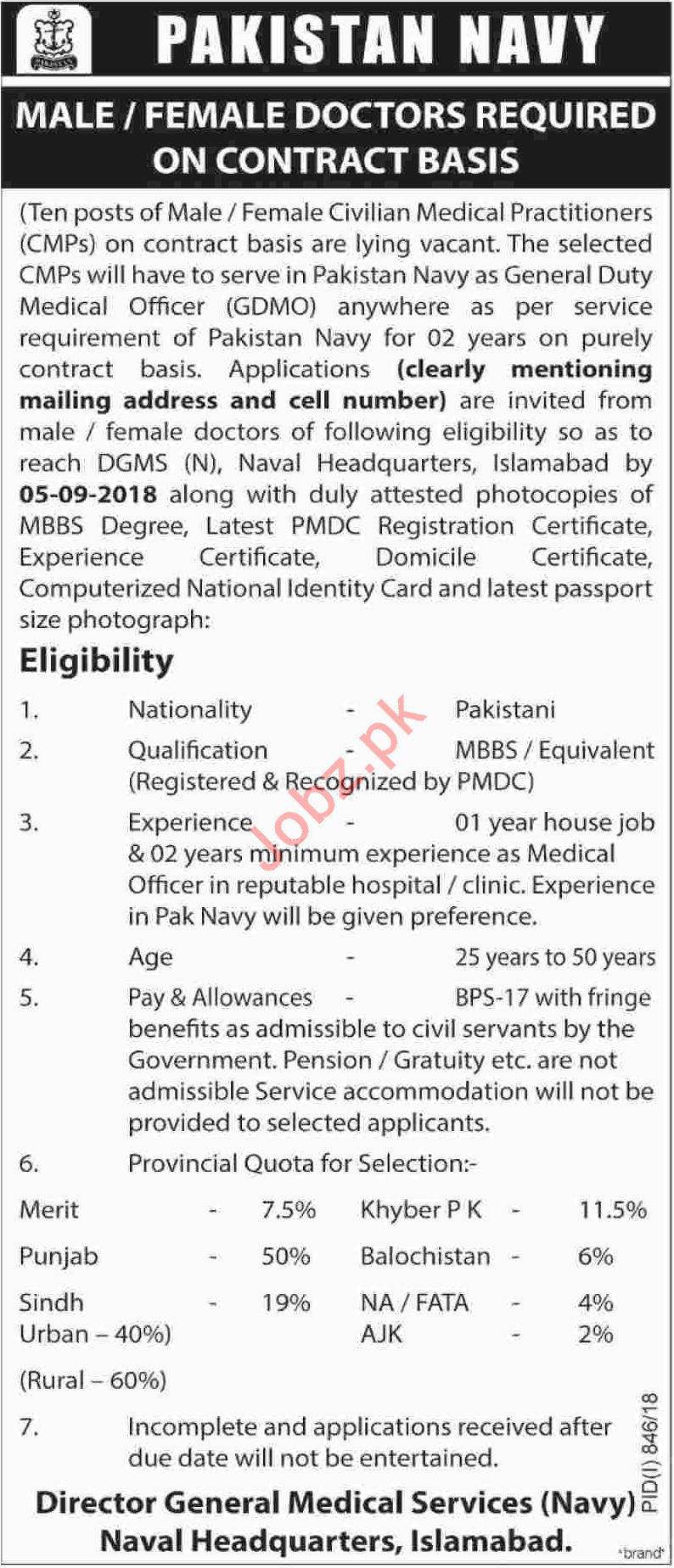 Doctors for Pakistan Navy