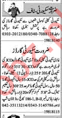 Security Guards Jobs 2018 in Lahore