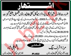 Municipal Committee Jalalpur Jattan Legal Advisor Jobs 2018