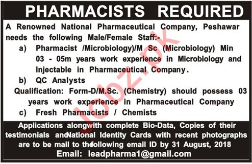 Pharmacists Required