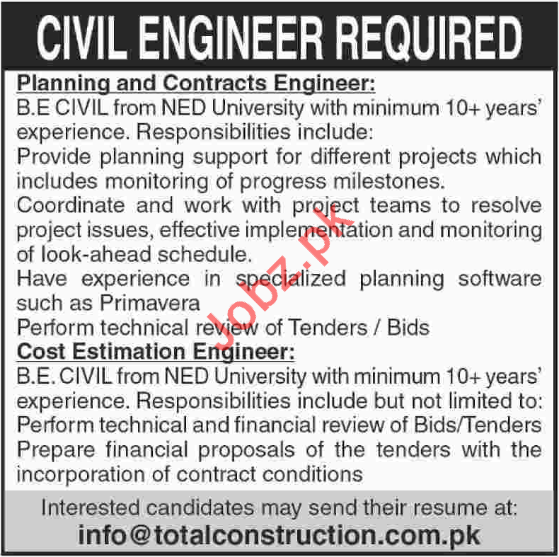 Civil Engineers for Total Constructions