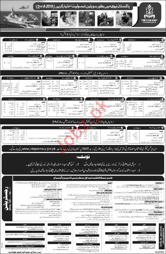 Join Pakistan Navy September 2018 2019 Job Advertisement