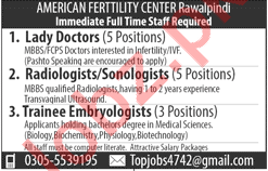 American Fertility Center AFC Rawalpindi Jobs
