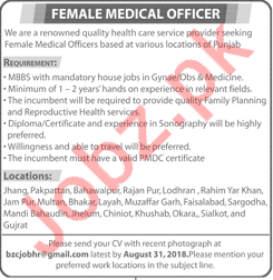 Female Medical Officer required