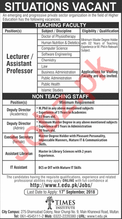 Jobs at Times Institute