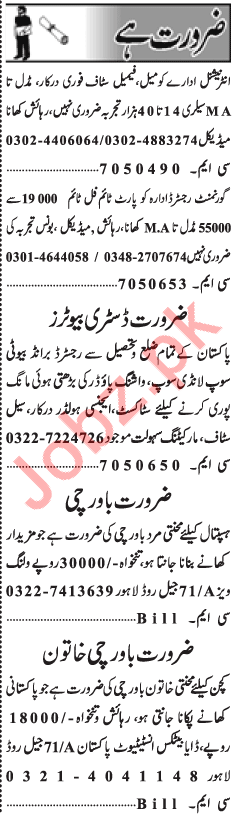 Daily Jang Newspaper Classified Ads 2018 For Lahore