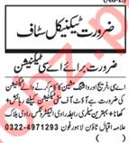 Technical Staff Jobs Open in Lahore 2018