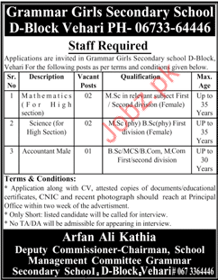 Grammar Girls Secondary School  Teaching Jobs 2018