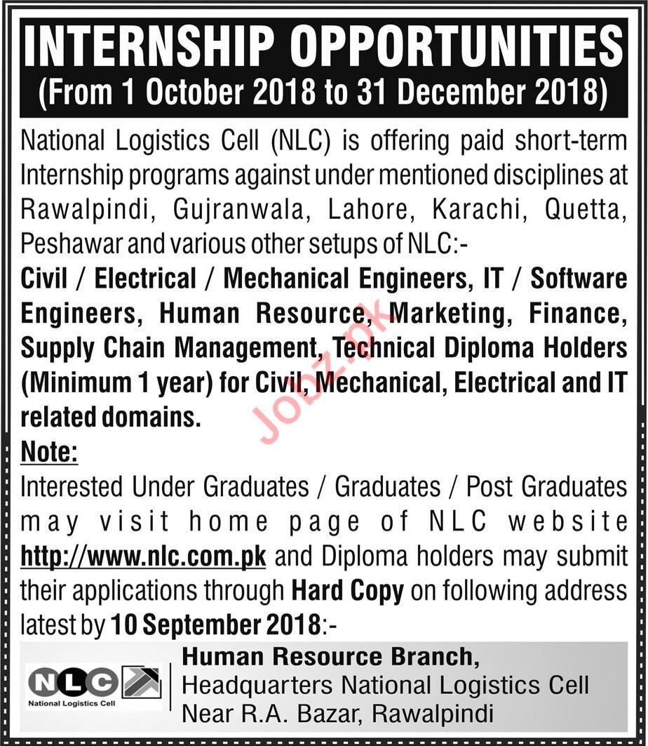 NLC Internship Opporunities 2018