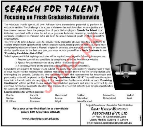 Sidat Hyder Morshed Associates Pvt Ltd Careers