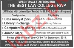 The Best Law College Rawalpindi Jobs 2018