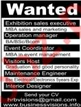 Exhibition Sales Executive Required