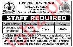 OPF Public School Junior Teachers Jobs 2018