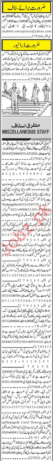 Daily Jang Newspaper Classified Ads 2018 2019 Job