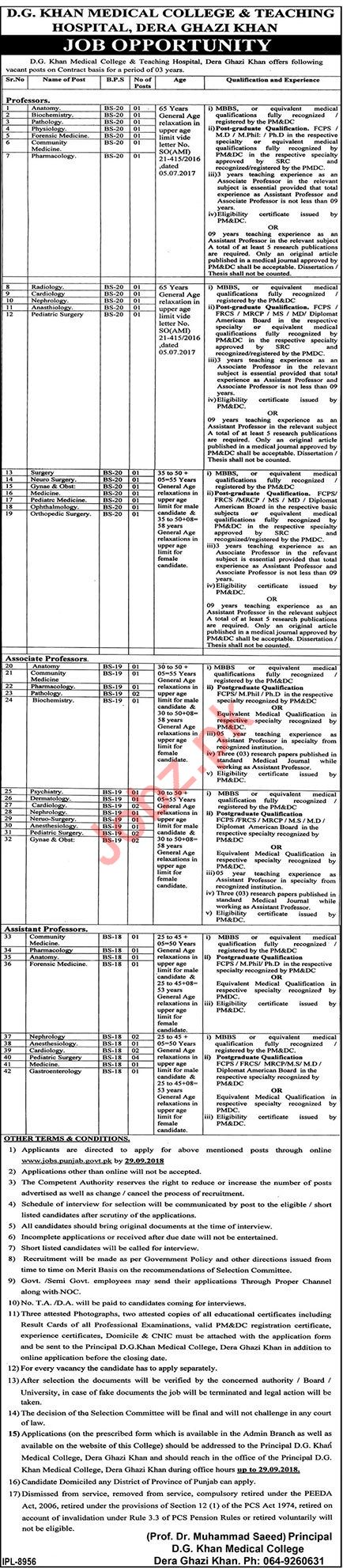 DG Khan Medical College & Teaching Hospital Jobs