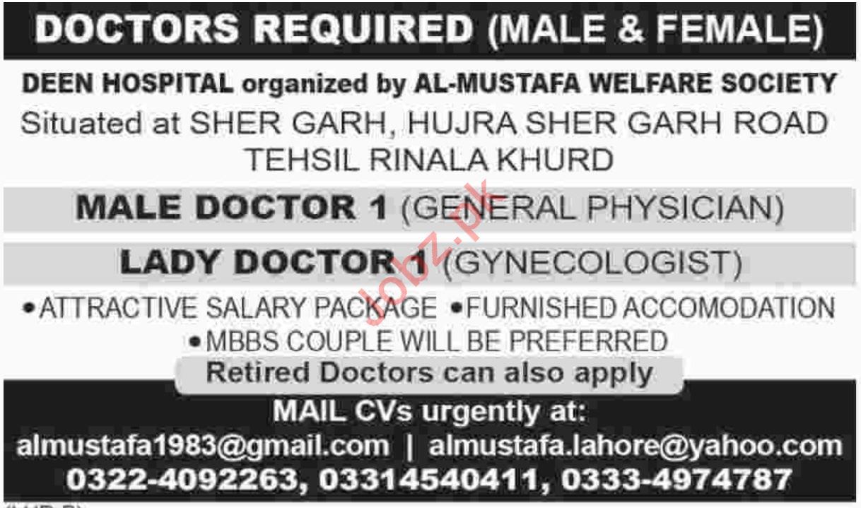 Al Mustafa Welfare Society Rinala Khurd Jobs 2018